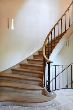 Art of Stairs Wood Railings For Stairs, Wooden Staircases, Wooden Stairs, Stair Railing, Stairways, New Staircase, Staircase Remodel, Curved Staircase, Staircase Design