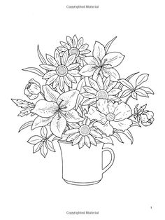 dover coloring book floral bouquets - Google Search