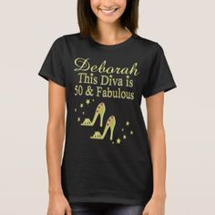 GOLD PERSONALIZED 50 AND FABULOUS T SHIRT Enjoy our fabulous selection of 50th birthday gifts. Up to 50% Off Mother's Day Gifts & More 15% Off Sitewide Use Code: MOMGIFTS2017 http://www.zazzle.com/jlpbirthday/gifts?cg=196128245923858498&rf=238246180177746410  #50yearsold #50thbirthday #50thbirthdaygift #50thbirthdayideas #Happy50th