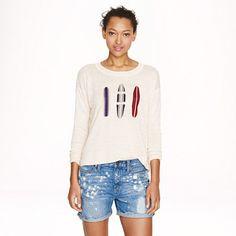 J.Crew linen surfboard sweater for the #island_girl.