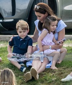 Catherine, Duchess of Cambridge, Prince George of Cambridge and Princess Charlotte of Cambridge attend the Maserati Royal Charity Polo Trophy at Beaufort Park on June 2018 in Gloucester, England. Kate Middleton Prince William, Prince William And Kate, William Kate, King William, Prince Philip, Prince And Princess, Princess Kate, Princess Charlotte, Real Princess