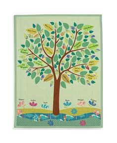 Ancestors and Descendants Family Tree Quilt
