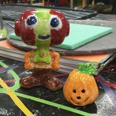 Robot and pumpkin