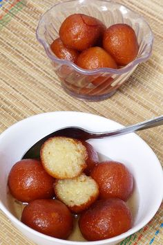 Gulab jamun recipe - These are made with khoya or mawa. For binding all purpose flour is added. Making this traditional Indian sweet is very easy. You need to keep few points in mind, I have mentioned those in the instructions. Indian Dessert Recipes, Indian Sweets, Sweets Recipes, Cooking Recipes, Jamun Recipe, Gulab Jamun, Food Snapchat, Snap Food, Desi Food