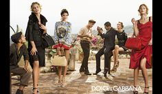 Eva Herzigova, Bianca Balti, Catherine McNeil and Marine Deleeuw in the Dolce&Gabbana Spring Summer 2014 Advertising Campaign photographed by Domenico Dolce -