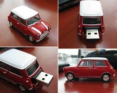 If you thought the Mini Cooper was small enough already, get a load of these Mini Mini Cooper flash memory devices. The Mini drives are the latest wacky Cool Technology, Technology Gadgets, Usb Drive, Usb Flash Drive, Techno Gadgets, Clever Gadgets, Amazing Gadgets, Usb Stick, Gadget Gifts
