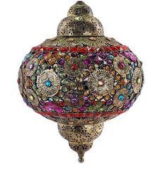 Lámpara estilo marroquí forma ovoide #decoracion #interiorismo #lamparas