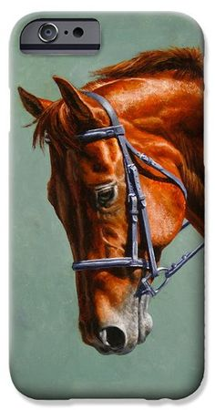 Chestnut Dressage Horse Phone Case iPhone 6 Case