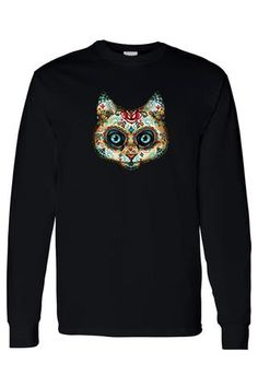 New cheap pet gift uploaded at SketchGrowl: Men's Long Sleeve Psychedelic Cat Shirt Hippie Pants, Boho Pants, Mens Watches Leather, Gifts For Pet Lovers, Cat Lovers, Cheap Gifts, Cat Shirts, Leather Design, Long Sleeve Shirts