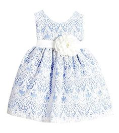 Sweet Kids Baby Girls' Sweet Vintage Elegance Lace Flower Girl Easter Dress by Sweet Kids http://www.easterdepot.com/sweet-kids-baby-girls-sweet-vintage-elegance-lace-flower-girl-easter-dress-by-sweet-kids/ #easter  100% Polyester Made in USA Sweet Vintage Country Style Lace Knee Length Dress Sleeveless Scoop Neck Bodice with Simple Sash and Flower Accenting the Waist Vintage Inspired Lace Overlay Knee Length Skirt Fully Lined with Built in Netted Slip Back Zippered Closure and Tie S..
