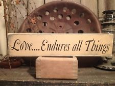 Country Primitive Handmade Wooden Friends Gather Here Sign Farmhouse  Decor