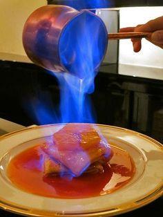 Blue fire Flambé crepe suzettes with orange Fish Recipes, Whole Food Recipes, Cooking Recipes, Pancake Recipes, Cake Ingredients, Homemade Taco Seasoning, Homemade Tacos, Cobbler, Gastronomia