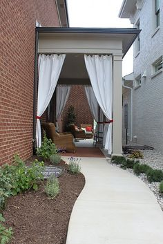 Love The Curtains On This Covered Patio! Could Do These With Canvas Drop  Cloths On