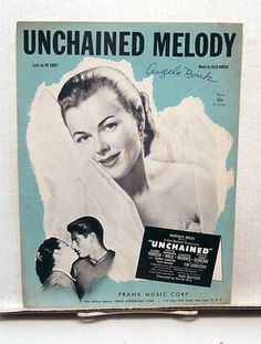 TIL that the song 'Unchained Melody' is the theme song to a little known prison movie called 'Unchained' hence the title. The film flopped although it was nominated one academy award for best original song. Old Sheet Music, Song Sheet, Vintage Sheet Music, Piano Sheet, Frank Music, Country Western Songs, Name That Movie, Hard To Find Books, Unchained Melody