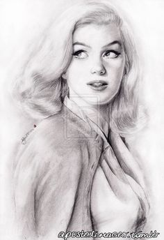 Gift: Marilyn Monroe by Ninzz-MiniGoth on DeviantArt | This image first pinned to Marilyn Monroe Art board, here: http://pinterest.com/fairbanksgrafix/marilyn-monroe-art/ || #Art #MarilynMonroe