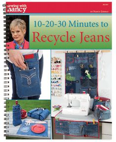 10-20-30 Minutes to Recycle Jeans, Nancy Zieman, Sewing WIth Nancy, How to recycle jeans