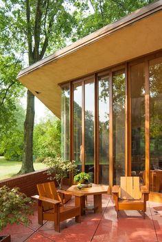 John J. Dobkins House. 1954. Canton, Ohio. Usonian Style. Frank Lloyd Wright