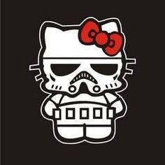 Amazon.com: Star Wars Hello Kitty Stormtrooper Junior Black T-shirt: Clothing