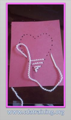 "Simple heart threading activity from 123 Play-and-Learn! ("",)"