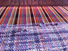 Upcycling clothes into rugs!