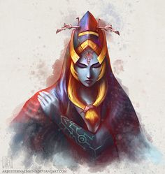 eternalegend-art: Midna's true form. I've been wanting to draw her again, and imitating watercolours. So I decided to combine both.Prints available—> here. The Legend Of Zelda, Nintendo, Zelda Twilight Princess, Hyrule Warriors, Drawing Games, Video Game Characters, Photoshop Cs5, Mystic Messenger, Les Oeuvres