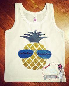 Baby Bodysuit, Aloha Beaches, Custom, Funny, baby shower, bodysuit, summer, infant, baby, beach, tank top