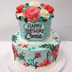 #happybirthday #100percentbuttercream #buttercream #cake #whiteflowercakeshoppe…