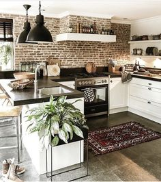 its-my-living:The Definitive Source for Interior Designersits-my-homeliving:Kitchen Inspiration //. its-my-living:The Definitive Source for Interior Designersits-my-homeliving:Kitchen Inspiration //. Home Decor Kitchen, Home Kitchens, Kitchen Ideas, Kitchen Interior, Small Cabin Kitchens, Modern Country Kitchens, Tuscan Kitchens, Space Kitchen, Contemporary Kitchens