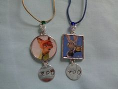 Zootopia Nick and Judy inspired bff necklace by TinkerGirlBoutique
