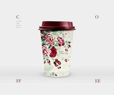 Coffee with flowers.