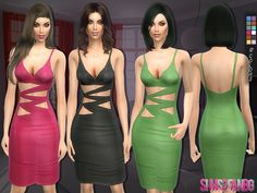 Lana CC Finds - 127 - Pencil dress by sims2fanbg