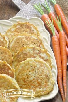 Carrot Pancakes   Food Hero - Healthy Recipes that are Fast, Fun and Inexpensive