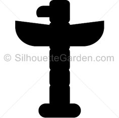 Totem pole silhouette clip art. Download free versions of the image in EPS, JPG, PDF, PNG, and SVG formats at http://silhouettegarden.com/download/totem-pole-silhouette/