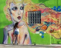 "Diana ""Didi"" Contreras at work, Wynwood, Miami, Florida, USA - 2014 (LP)"