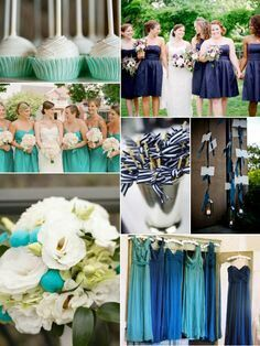 For Lolas Wedding Navy And Aqua Turquoise I Like The Idea Of Colors You Could Also Do This With Pink Purple Green Etc