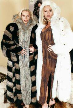 Black Fur Coat, Long Fur Coat, White Fur, Fur Coats, Cosy Outfit, Fabulous Fox, Vintage Fur, Fur Fashion, Derp