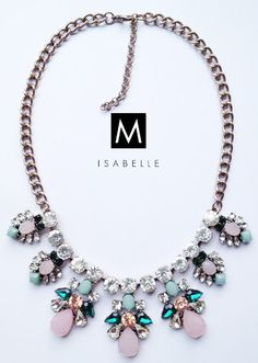 The 'Louise' Beautiful Statement Necklace Shourouk Handcrafted Handmade Gemstone Jewellery / Jewelry for Women