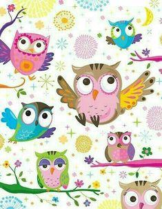 Owl, decopage, background