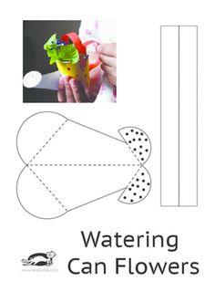 DIY Watering Can Flowers | krokotak