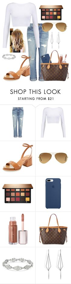 """""""Fall in NY"""" by highstreethockey on Polyvore featuring Current/Elliott, Cushnie Et Ochs, Tod's, Ray-Ban, Sephora Collection, Apple, Louis Vuitton and Diane Kordas"""