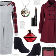 How To Wear Plaid Raglan Dress Outfit Idea 2017 - Fashion Trends Ready To Wear For Plus Size, Curvy Women Over 20, 30, 40, 50