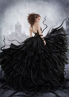 Creative Digital Art by Ana Cruz.... the black dress
