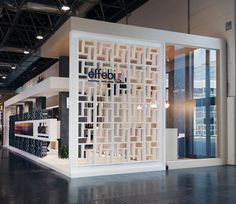 "The whole stand has been made by using #row, varnished #iron and #wood. Stand ""seiXsei"" @Euroshop"
