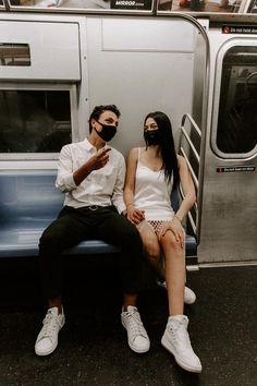 #newyorkcitycouple #newyorkelopement #urbanelopement #elopenewyork #elopenewyorkcity #newyorkcityelopement #cityelopement #citycouple #shortweddingdress #nontraditionalweddingdress #weddingdaytennisshoes #newyorktrain #newyorksubway
