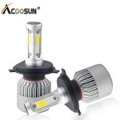 Car Light S2 H4 H7 H1 COB LED Headlight Bulbs H11 H13 12V 9005 9006 H3 9004 9007 9012 72W 8000LM Car LED lamp Fog Light 6500K   Price: 17.59 USD