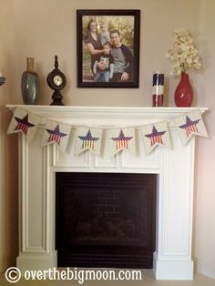 4th of July Bunting from Over the Big Moon - Printable templates to create your own!