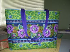 QUILTED TOTE by Sewinat70 on Etsy, $65.00