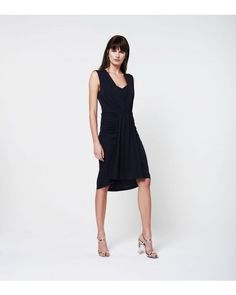Draped jersey dress - Freesia