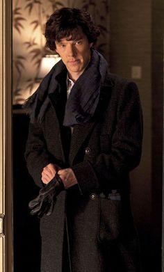Benedict Cumberbatch as William Sherlock Scott Holmes. Holmes Sherlock Bbc, Sherlock Coat, Benedict Cumberbatch Sherlock, Watson Sherlock, Jim Moriarty, Benedict Sherlock, Egg Benedict, John Watson, Johnlock