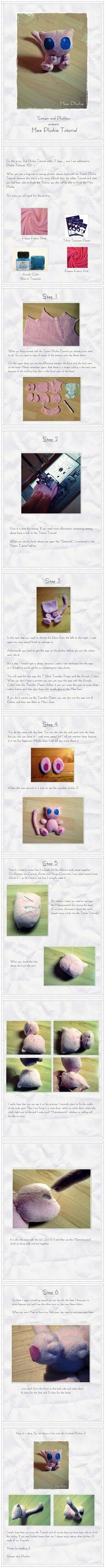 So this is my 2nd Plushie Tutorial within 2 days … wow I am addicted to Plushie Tutorials XD … When you are a beginner in sewing plushies, please start with my Totoro Plushie Tutorial, because this...